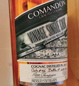 Packaging cognacs Comandon Packaging of the Vintage Single Cask range of Comandon cognacs