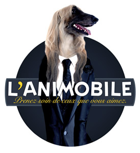 Habillage camion Logo of mobile animal grooming company
