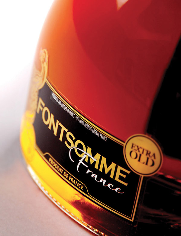 Etiquettes cognacs Cognac labels for Fontsomme