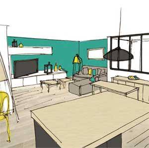 Aménagement séjour cuisine Advisory mission of kitchen and living space