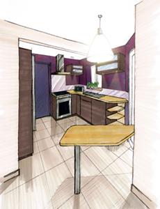 Aménagement cuisine ouverte advisory mission for kitchen