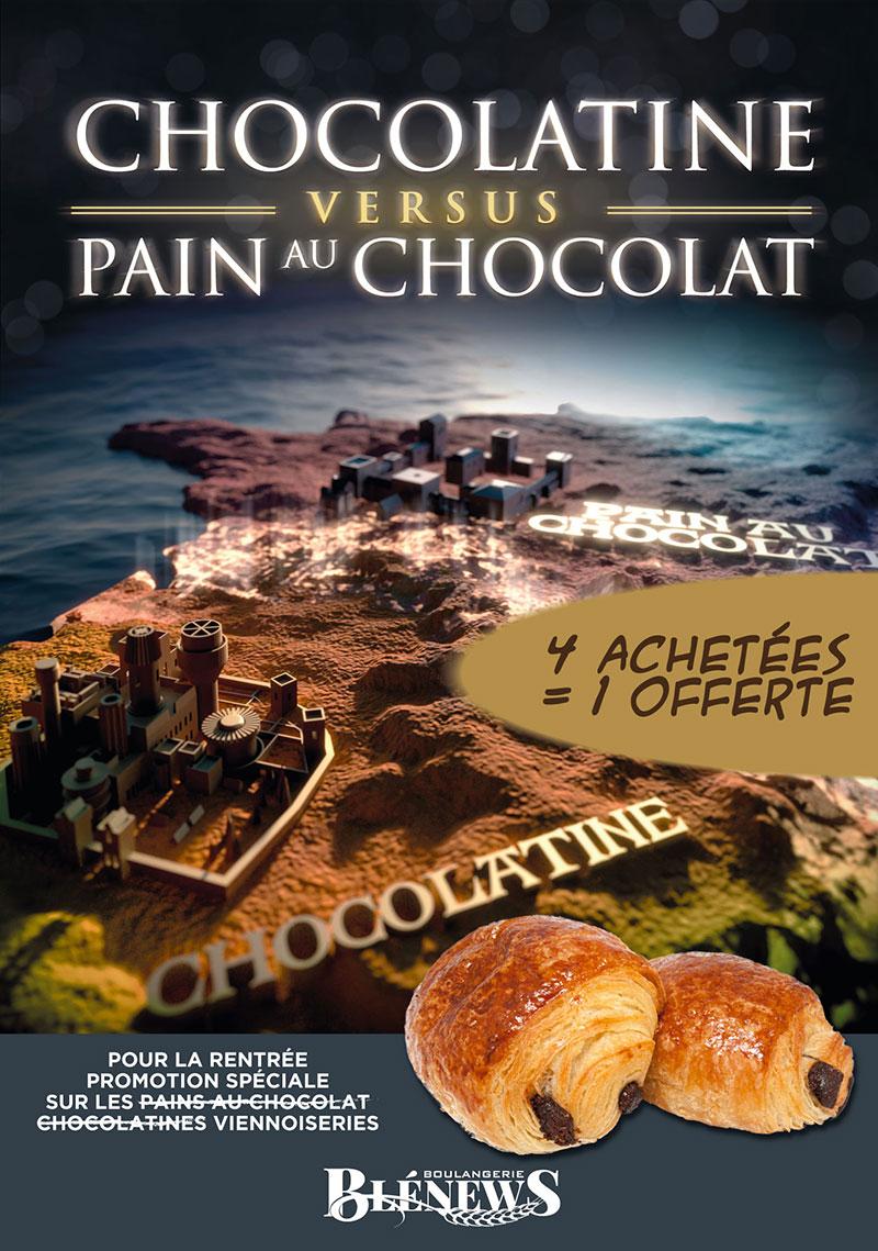Communication commerciale Chocolatines VS Pains au chocolat