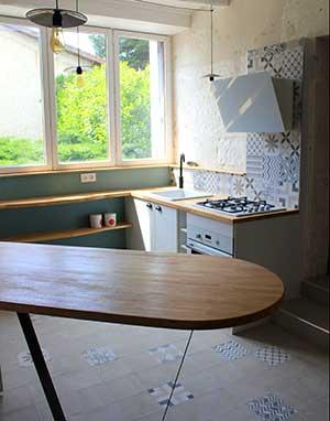Aménagement d'une cuisine à Brantôme