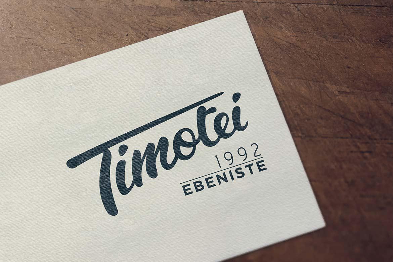 Logo ébénisterie Timotei