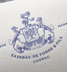 Illustrations et armoiries de la maison Sazerac